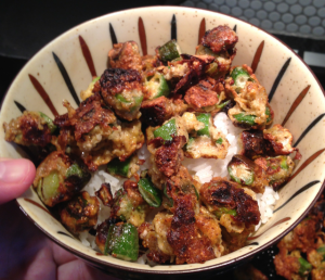 Here's my favorite way to serve home style fried okra.