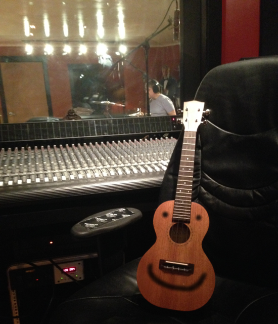 The ukulele couldn't be happier recording drums at one of the best studios in the area!